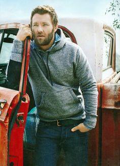"""joel edgerton (via my new plaid pants) """"He is a bearded wonder of walking sex."""" -- Me"""