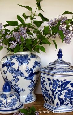 Blue and white pottery with an Asian influence is a timeless classic that has become mainstream. I fell for the