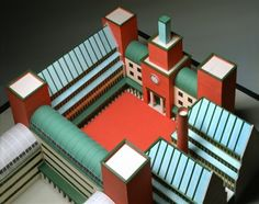Model for the UBS administrative city in Lugano. Lugano, Aldo Rossi, Invisible Cities, Urban Architecture, Exhibition, Postmodernism, Rome, City, Image