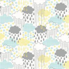 Blend fabrics  blown away Regenwolken von FraeuleinOtten-Stoffe auf DaWanda.com