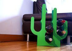 Porte bouteilles Cactus Acier laqué - Frais de port Gratuit - Les Esthètes
