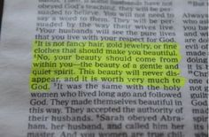1 Peter 3:3-4.