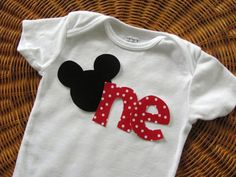 Birthday Applique for one year old baby-gifts