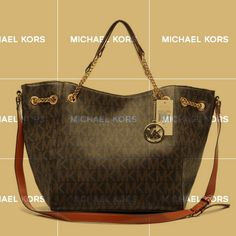 Michael  Chain Large Coffee Tote ($370)