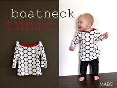 TUTORIAL: Boatneck Tunic  | MADE. Love the boatneck with contrasting bias and buttons! Sweet, sweet look!