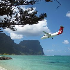 Qantas fly direct to Lord Howe Island, Australia from Sydney and Brisbane.
