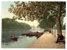 This image shows the Bridge and Promenade of the Ouse river in Bedford.It was taken on 12th August 1898 by Glynis Aylwin. This high resolution Victorian photochrom image is available to buy on the following products: Giclee Prints   … Continued