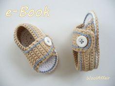 Baby-Häkel-Sandalen #2 Häkelanleitung für Sommer-Sandalen Babyschuhe Babysandalen