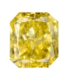 0.38 Carat Fancy Vivid Yellow Radiant Diamond