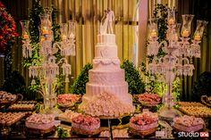 Bolo de casamento Clássico com seis andares de Deiverson de Lara! .Casamento Mari e Gilmar   Espaço Hípica   Blog Site da Noiva