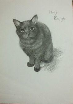 猫画「ホーリーナイト」[かすこ] | ART-Meter
