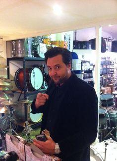 Washington drummer John Castle visits Revolver Drums