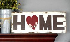 Wooden Home Sign, Decorative Sign, Customized Sign, Distressed Wood, Wedding Gift, Housewarming Gift, Rustic Charm, Wall Decor, Home Decor