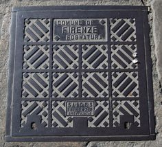 Manhole cover, Florence, Italy