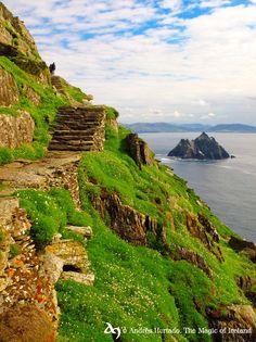 Walking on the sky.  Skellig Michael, Co.Kerry Ireland (Andreas Hurtado)