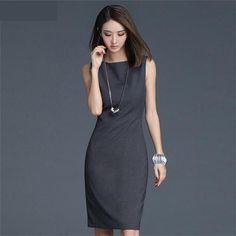 ac716a5bca Elegant Office Formal Dress O-neck Wear to Work Sheath Dress Work Dresses