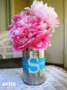 Don't throw away cans- make them beautiful