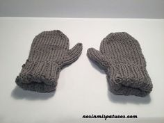 Manoplas con dedo. Baby Knitting, Crochet, Mittens, Projects, Blog, Collection, Camilla, Irene, Babys