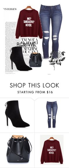 """""""Romwe # 5"""" by abbybo ❤ liked on Polyvore featuring Charles David, N°21 and Forever 21"""