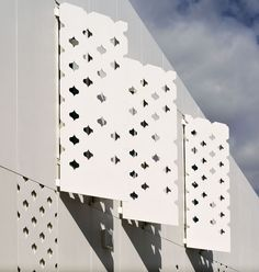 Perforated facade shutters. EQUITONE facade materials. RTA architects, Auckland. www.equitone.com