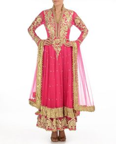 Dark pink color long anarkali salwar kameez – Panache Haute Couture  http://panachehautecouture.co.in/products/dark-pink-color-long-anarkali-salwar-kameez