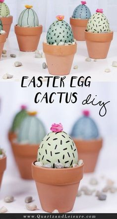 Easter Egg cactus perfect for Easter or Cinco de Mayo Cactus DIY Do you love succulents as much as I do? And are you looking for a fun project for your Easter eggs? Learn how to make these Easter egg cactus pots in today's super easy DIY post! Easy Easter Crafts, Easter Dyi, Bunny Crafts, Easter Gift, Summer Crafts, Easter Decor, Easter Ideas, Fall Crafts, Happy Easter