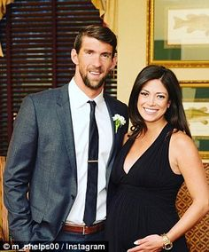 Phelps and fiancee Nicole Johnson