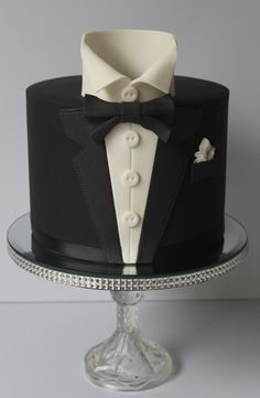 Tuxedo Cake is perfect as the Groom's Cake. - Tuxedo Cake is perfect as the Groom's Cake. Gorgeous Cakes, Pretty Cakes, Cute Cakes, Amazing Cakes, Unique Cakes, Creative Cakes, Fondant Cakes, Cupcake Cakes, Tuxedo Cake