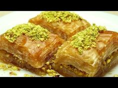 Turkish Dessert Baklava Ingredients: lbs) thin phyllo pastry 130 g stick) butter sugar oz) pistachio 3 tbs. Lemon juice ½ cup vegetable oil Ingredients for the baklava phyllo dough: 2 eggs cup vegetable oil cup yogurt 1 tsp salt 3 cup of flour Greek Baklava, Turkish Baklava, Lebanese Recipes, Turkish Recipes, Ethnic Recipes, Baklava Dessert, Kolaci I Torte, Phyllo Dough, Arabic Sweets