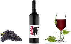 Wine Label, Design Projects, Red Wine, Packaging Design, Alcoholic Drinks, Bottle, Glass, Drinkware, Flask