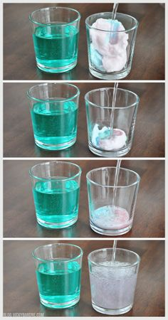 Sparkling Cotton Candy Drink | perrier and cotton candy | magic cotton candy drink | try with champagne or sprite | New Year's Eve ideas for kids