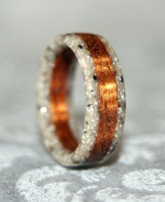 Custom Wooden or Corian Ring or Wedding Band by MnMWoodworks