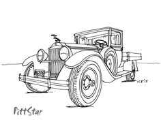 Ford Truck Coloring Pages 01 | Coloring Pages | Pinterest