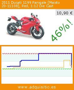 2011 Ducati 1199 Panigale [Maisto 20-11108], Red, 1:12 Die Cast (Juguete). Baja 46%! Precio actual 10,90 €, el precio anterior fue de 20,21 €. https://www.adquisitio.es/maisto/2011-ducati-1199-panigale