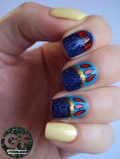 snow white disney nails