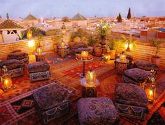 Yacout roof terrace, Marrakech Identified in the Book 1,000 Places To See Before…