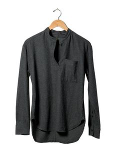 Charcoal Henley Popover