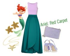 """""""Ariel: Red Carpet"""" by wisegirlhere ❤ liked on Polyvore featuring Glamorous, Disney, Pinko, Sergio Rossi, Tiffany & Co. and Ivanka Trump"""