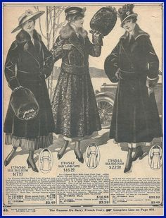 1916 attractive coats for women and misses, Sears