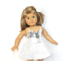 Amazon.com: Arianna® White Prom Dress Hair Flower Clip and Shoes Fits 18 Inch American Girl Dolls: Toys & Games