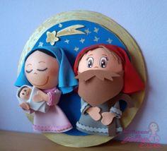 Nacimiento Fofucho. María con el niño y José. Vista Lateral.                                        *Contactar conmigo en: mispecosasdegomaeva@gmail.com*       *Visita mi blog: http://mispecosasdegomaeva.blogspot.com.es*    *Visitame en facebook: https://www.facebook.com/pages/Mis-Pecosas-de-Goma-Eva/629793133752587*