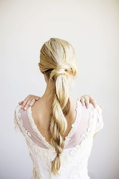 Lovely bridal braid for your big day