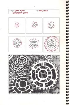 Pictures To Zentangle | New Tangle Pattern Geer #One #Zentangle | lifeimitatesdoodles