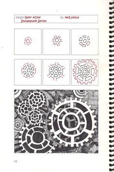 Pictures To Zentangle | New Tangle Pattern Geer #One #Zentangle | lifeimitatesdoodles