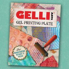 Gelli Arts, Gel Printing Plate for monoprinting @Terri Hurbis - have a look at this