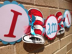 Cat in the Hat Inspired Highchair Banner Party Banner 1st Birthday. $13.50, via Etsy.