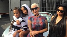 Chris Brown's ex Karrueche Tran poses with BFF's Christina Milian and Amber Rose for Coachella fun | Festivals | heatworld