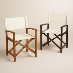 Essential for entertaining, our club chairs feature durable acacia wood frames in two finishes with vibrant canvases in an array of colors and designs, sold separately - for endless mixing and matching. www.worldmarket.com #WorldMarket Outdoor Entertaining