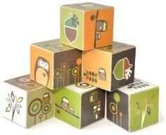 Modern Owl Wooden Blocks