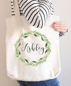 Bridesmaid Tote Bag Gift Personalized By Instanttrends